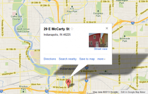 Photo of map to Pearl Pathways office 29 E. McCarty